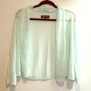 Jones New York mint cardigan sweater
